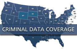 Criminal background data reporting by state